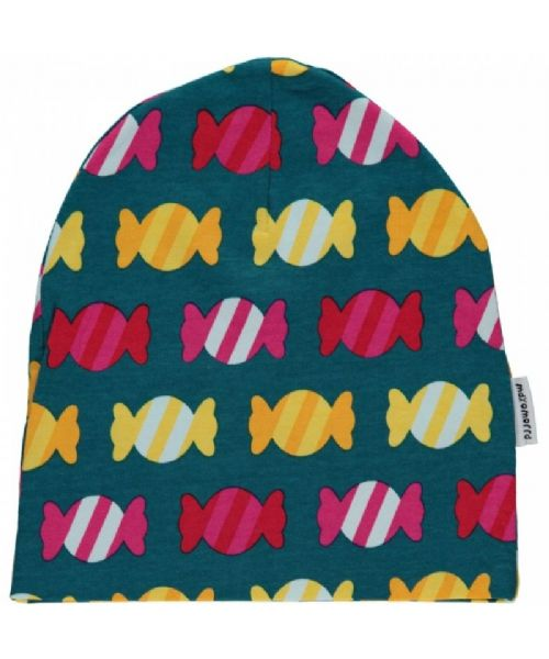 Maxomorra Beanie Velour Hat Candy